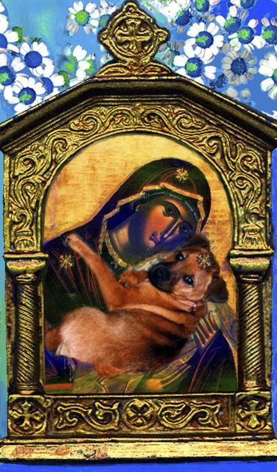 Karelia Madonna & terrier