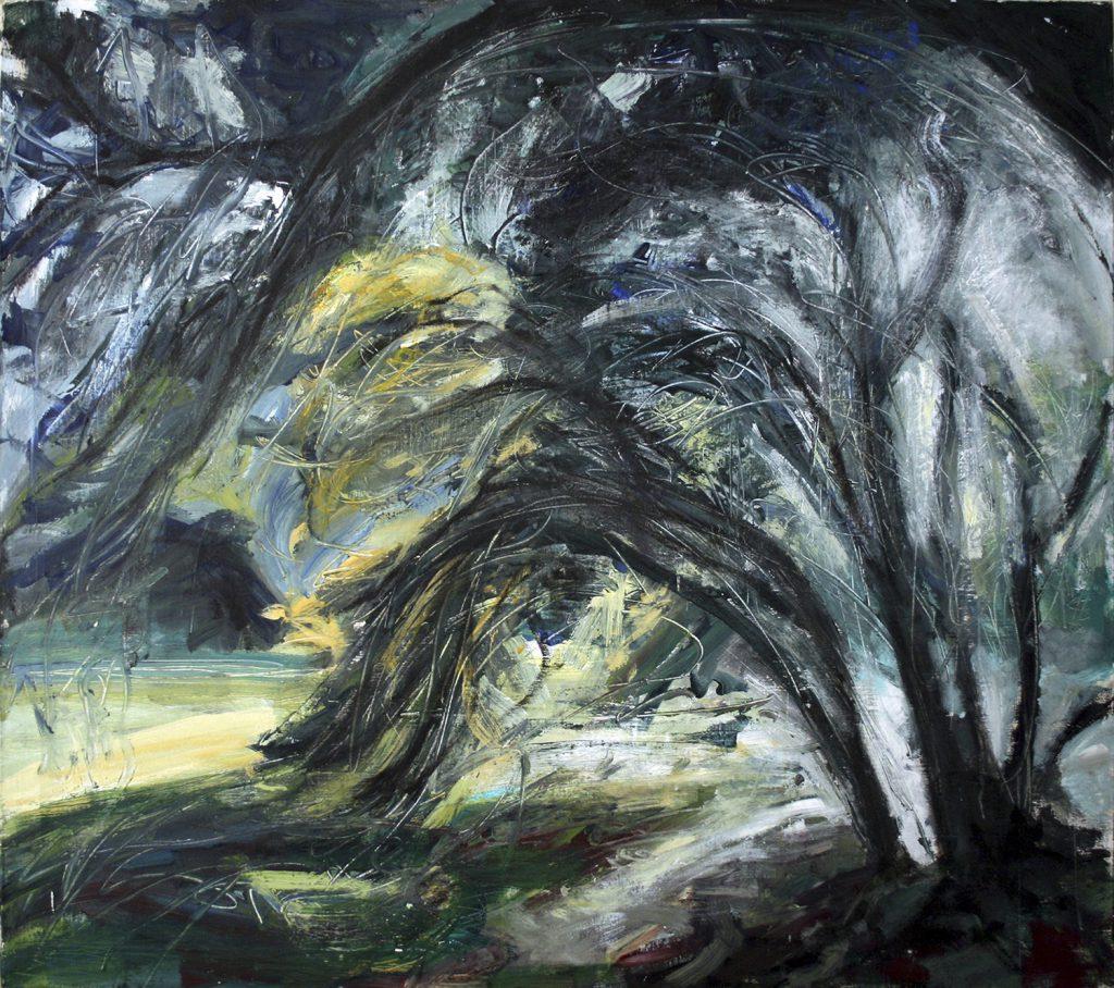 Wild wind blown tree
