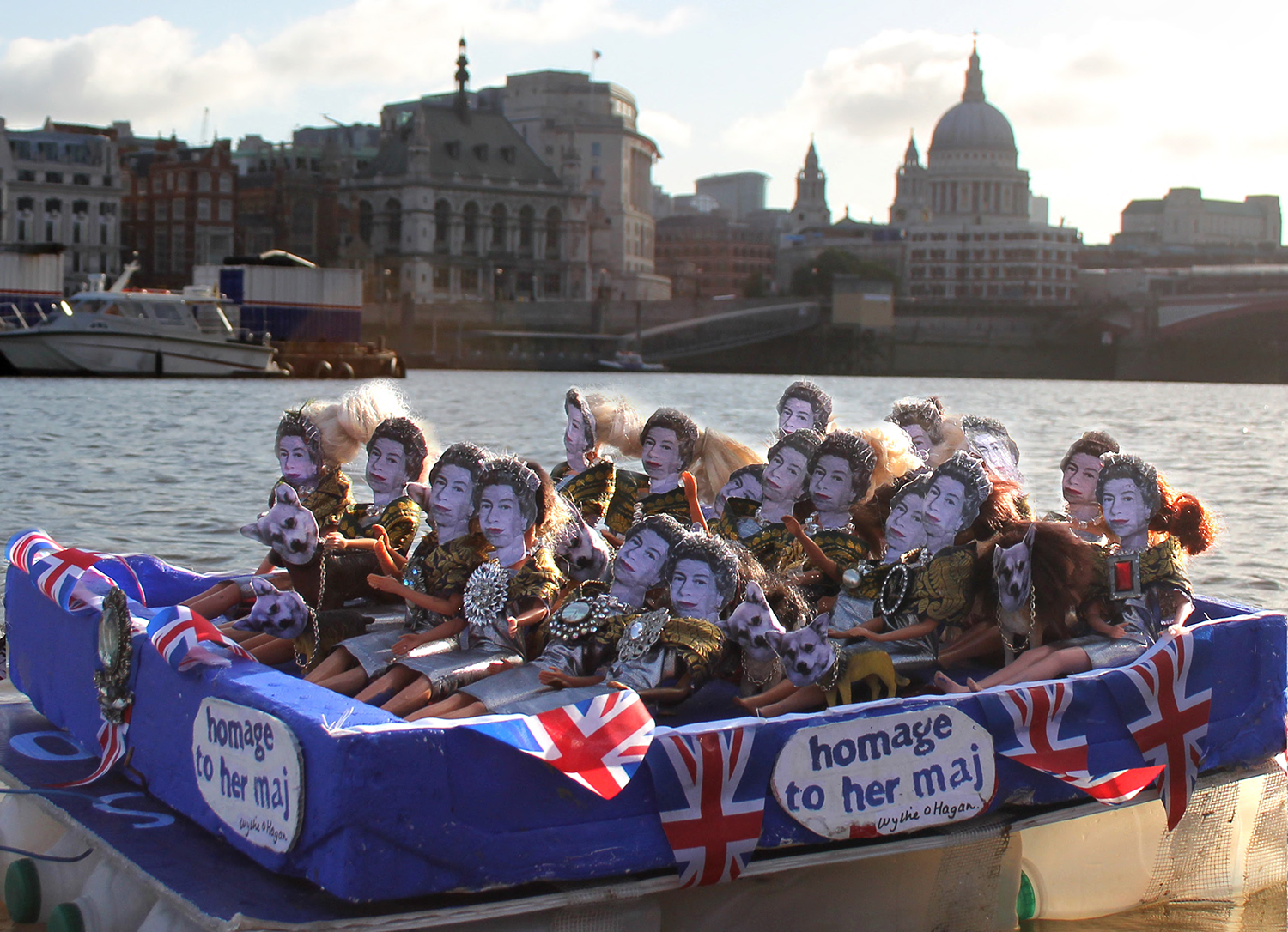 The Royal Raft on the River Thames by St Pauls
