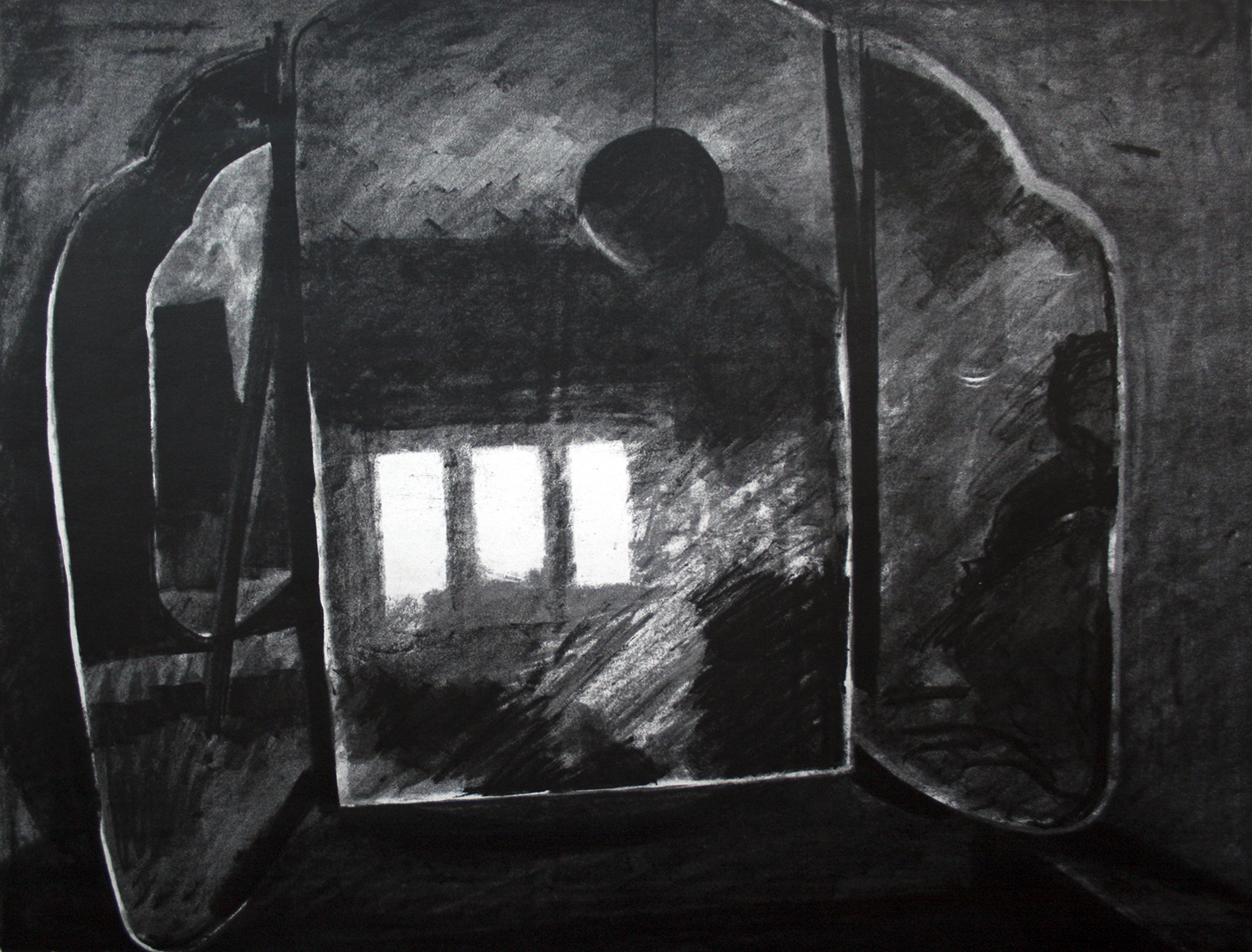 Triptych mirror Lithograph