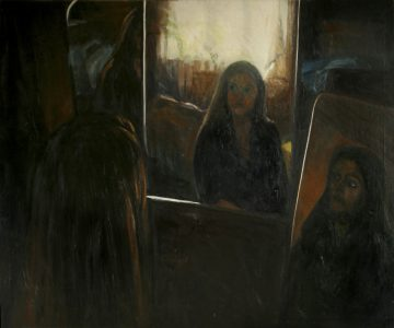 Triptych Mirror Painting