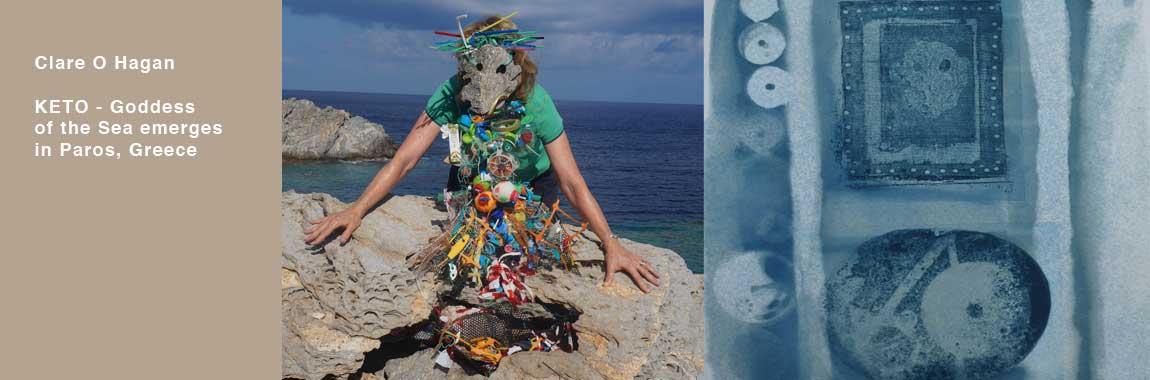 Keto Greek Goddess of the Sea Paros  Greece Clare OHagan Irish Artist