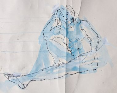 Seated Nude with Bent Knee