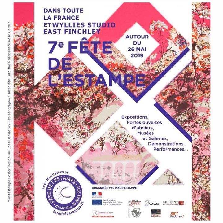 Invitation to Wyllie's Open Studio -  Fête de l'estampe - London - May 2019