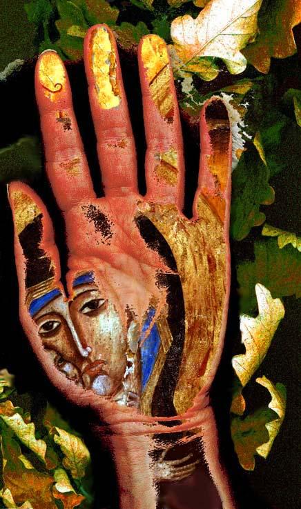 Digital Art, Palm Print, Madonna,  Denise Wyllie, art, artist, Karelia, Sabina Nedbailik, Сабина Недбайлик, Masha Yufa, Sergei Terentjev, Andrey Kurochkin