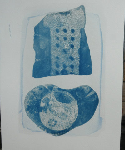 No 20 KETO Series cyanotype on stone