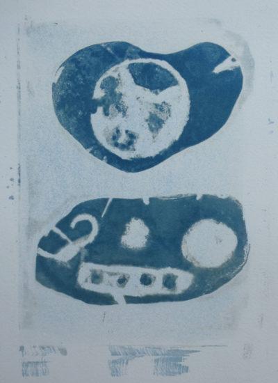 No 21 KETO Series cyanotype on stone