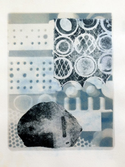 No 2 KETO Series cyanotype with etching