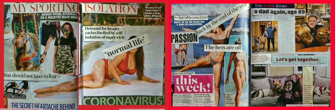 #LockdownArt #Art #womensart #celebrity #magazine #AlteredArt @Clare_O_Hagan #COVIDー19 #PPEShortages