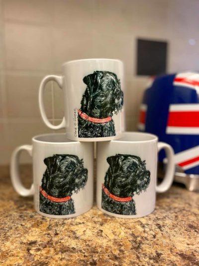 Border Terrier Fine Art Print Mug for sale