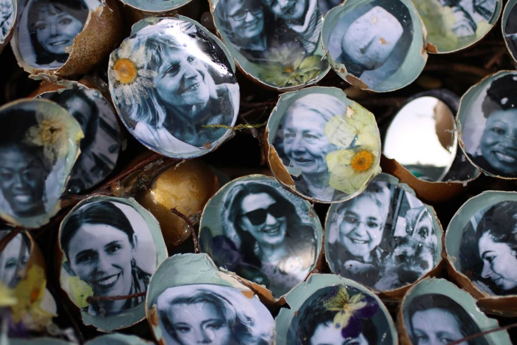 Detail of portraits in Spring Glade