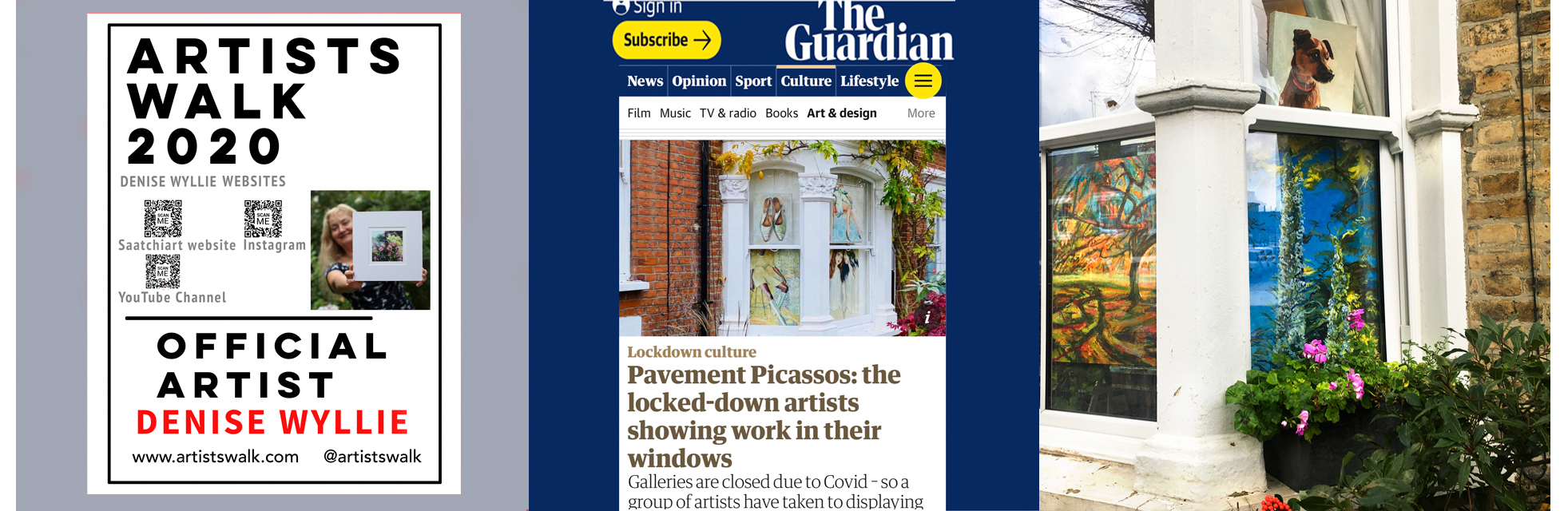 Denise Wyllie locked-down 'window art exhibition'