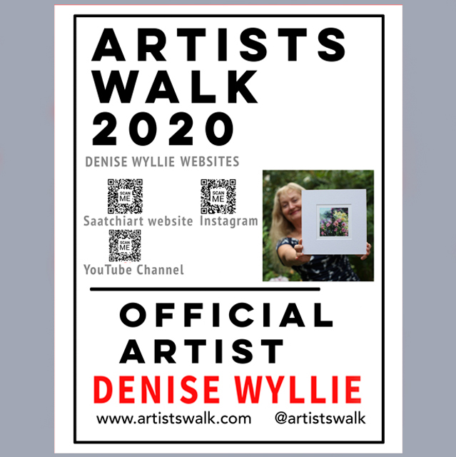 Denise Wyllie Artists' Walk Official poster 2020